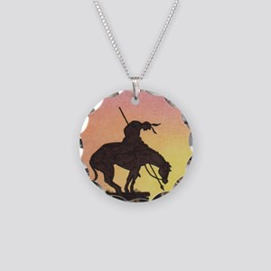 End of the Trail Necklace Circle Charm