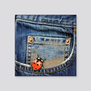 "Buggy  Jeans Square Sticker 3"" x 3"""