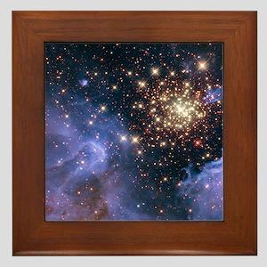 Celestial Fireworks 2 Framed Tile