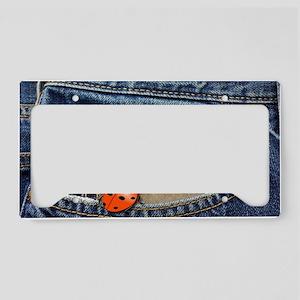 Ladybug Jeans License Plate Holder