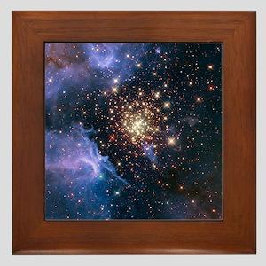 Celestial Fireworks Framed Tile