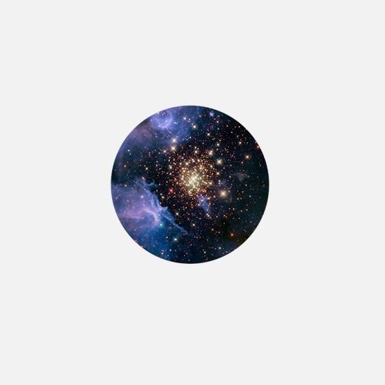 Celestial Fireworks Mini Button