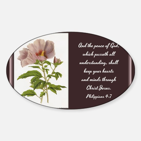Constans Hibiscus - God Give You Pe Sticker (Oval)