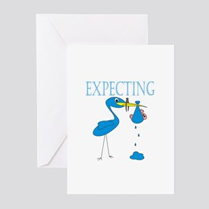 Expecting Blue Greeting Cards (Pk of 10)