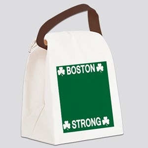 Boston Strong Shamrock Canvas Lunch Bag