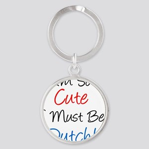 So Cute Dutch Round Keychain