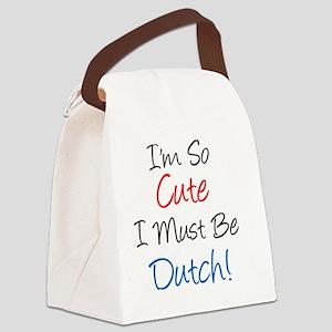 So Cute Dutch Canvas Lunch Bag