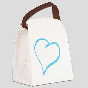 Baby Boy Handprint Canvas Lunch Bag