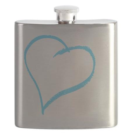 Baby Boy Handprint Flask