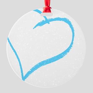 Baby Boy Handprint Round Ornament