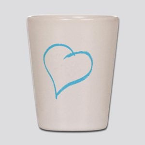 Baby Boy Handprint Shot Glass