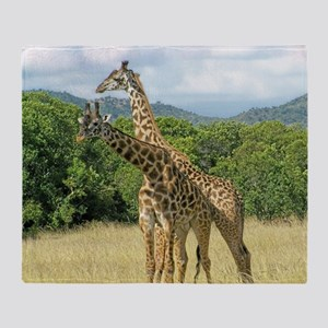 Mara Giraffes Throw Blanket
