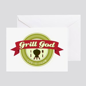 Grill God Greeting Card