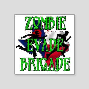 """Zombie Evade Brigade Logo Square Sticker 3"""" x 3"""""""