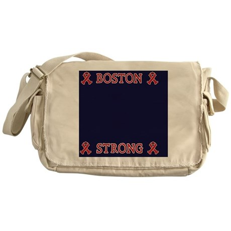 Boston Strong Ribbon Messenger Bag