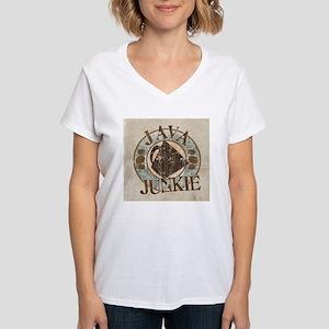 Java Junkie Women's V-Neck T-Shirt