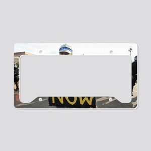 PEACE NOW License Plate Holder