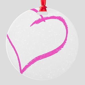 Baby Girl Handprint Round Ornament