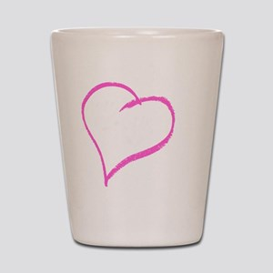 Baby Girl Handprint Shot Glass