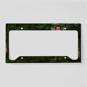 Forest Elf Girl License Plate Holder