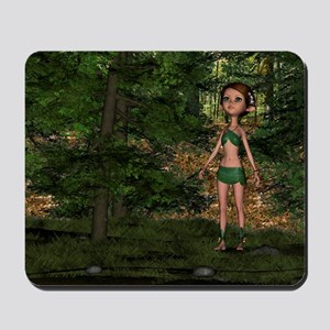 Forest Elf Girl Mousepad
