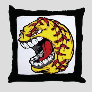 Havoc Screaming Softball Throw Pillow