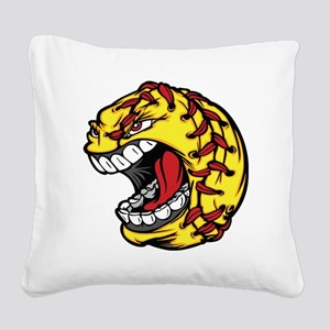 Havoc Screaming Softball Square Canvas Pillow