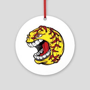 Havoc Screaming Softball Round Ornament
