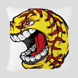 Havoc Screaming Softball Woven Throw Pillow