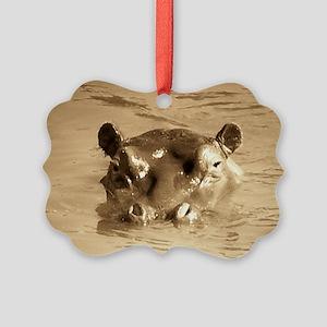 River Hippo Picture Ornament