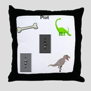 Jurassic Park Plot Throw Pillow