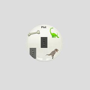 Jurassic Park Plot Mini Button
