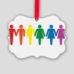 Equal People Equal Love Equal Rig Picture Ornament