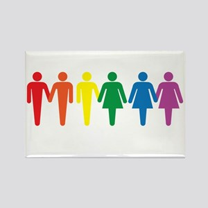 Equal People Equal Love Equal Rig Rectangle Magnet
