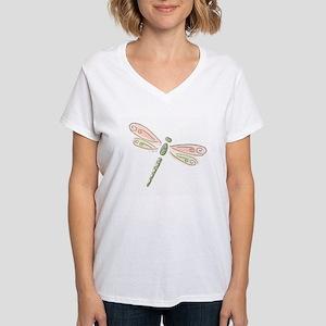 Dragonfly Women's V-Neck T-Shirt