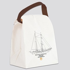 Back of T Shirt Canvas Lunch Bag