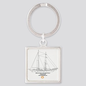 Back of T Shirt Square Keychain