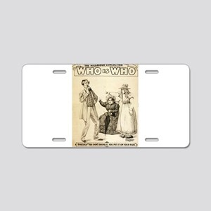 Who is who 3 - US Printing - 1899 Aluminum License