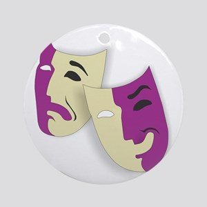 Masks of the Theater Round Ornament