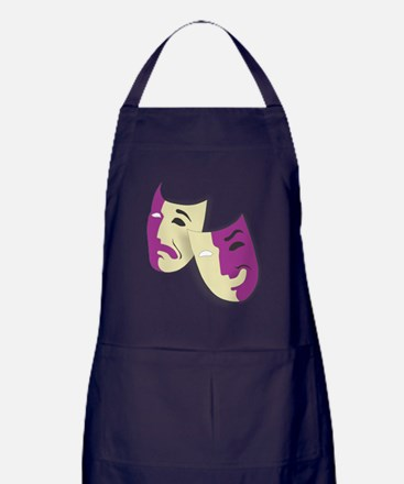 Masks of the Theater Apron (dark)