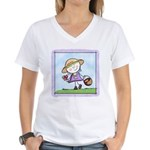 Garden Girl Women's V-Neck T-Shirt