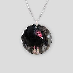 Turkey Vulture Necklace Circle Charm