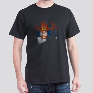 Serbia Flag in Real heart Dark T-Shirt