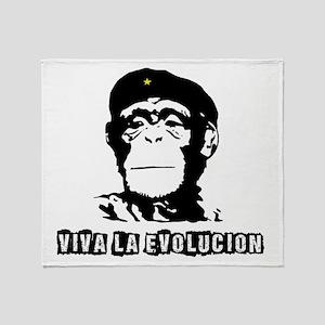 Human Evolution Throw Blanket