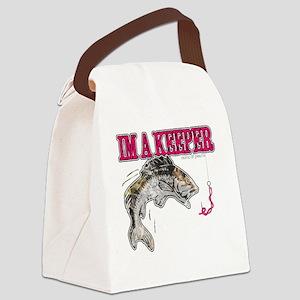Im a keeper Canvas Lunch Bag