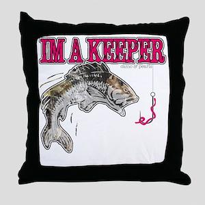 Im a keeper Throw Pillow
