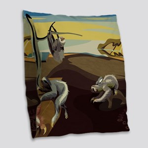 Persistence of Sloths Burlap Throw Pillow