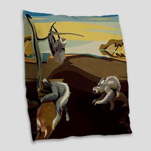 Persistence of Sloths Burlap Throw Pillow