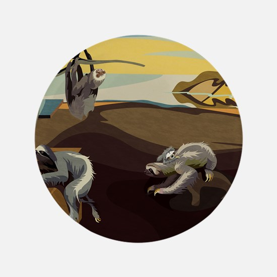 """Persistence of Sloths 3.5"""" Button"""