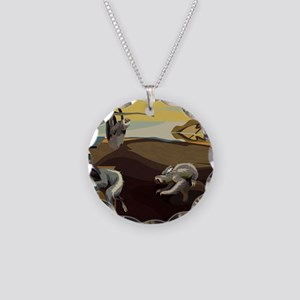 Persistence of Sloths Necklace Circle Charm